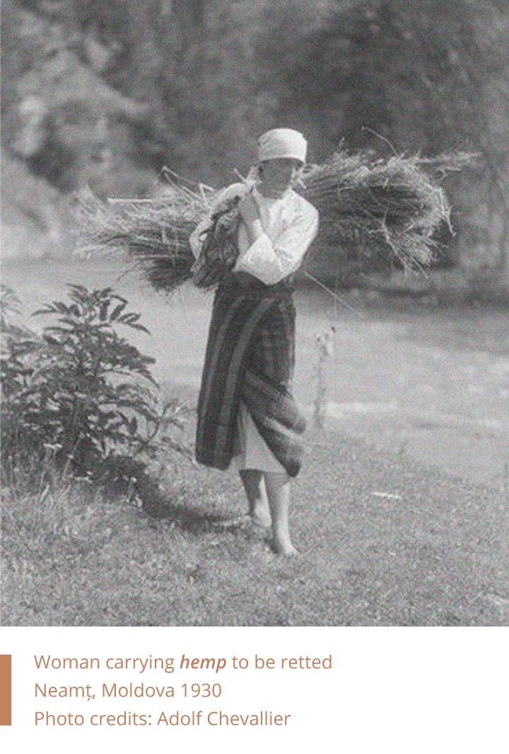 Folkwear-Society-History-Romanian-woman-carying-hemp